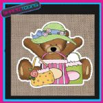 CUTE BEAR DESIGN JUTE  SHOPPING LADIES GIFT BAG 002